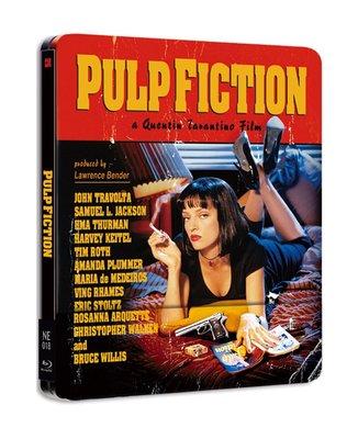 毛毛小舖--藍光BD 黑色追緝令 雙碟1/4套限量鐵盒版(中文字幕) Pulp Fiction 昆汀塔倫提諾