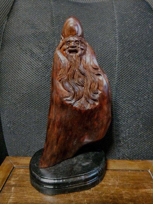 小葉紫檀木雕◎  開心壽翁