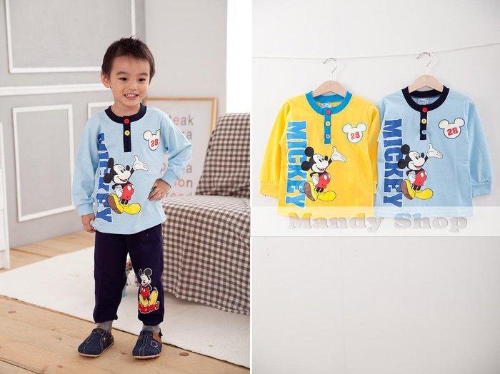 mandyshop【3225】台灣製㊣ Disney迪士尼 / 米奇100%純棉長袖T恤/上衣