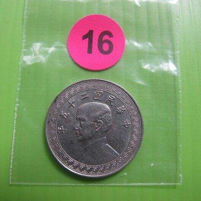 錢幣早期~(16)民國二十五年。廿分。