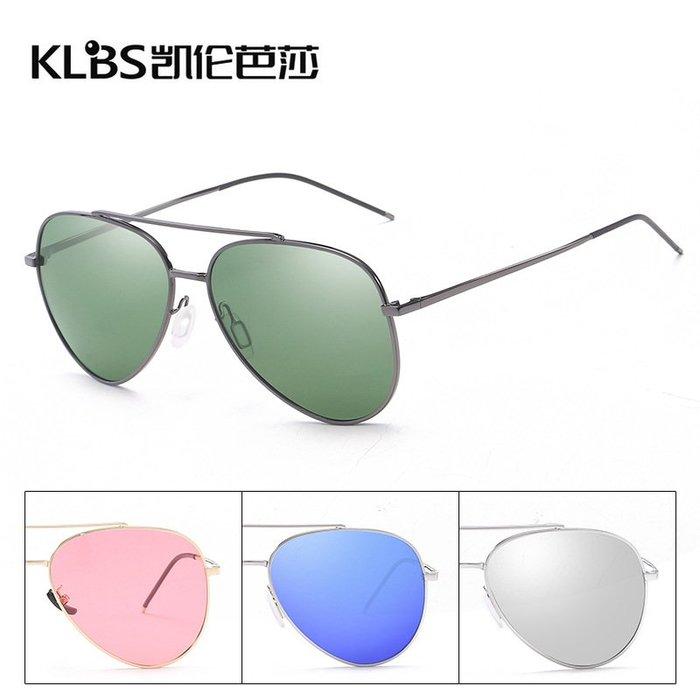[凱倫芭莎]2003眼鏡鏡框墨鏡太陽眼鏡鏡片偏光太陽鏡潮流炫彩墨鏡金屬男女通用眼鏡1.1偏光鏡片8880131