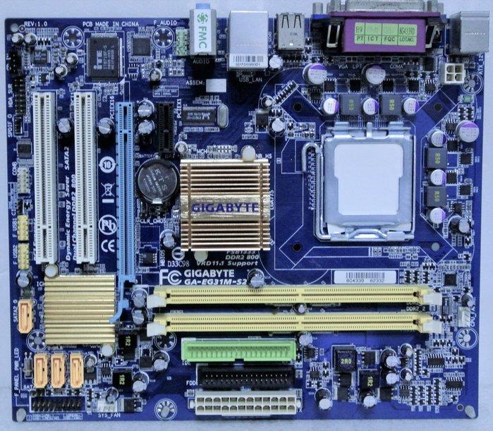 ~ 駿朋電腦 ~ 技嘉 GA-EG31M-S2 / 775 / DDR2 / 顯示 $500