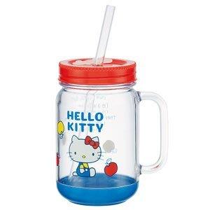 4165本通 KITTY 凱蒂貓  日本製 梅森瓶/梅森杯.500ML4973307316883 下標前請詢問