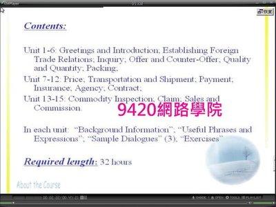 【9420-1845】經貿英語會話(Business English Conversation) 教學影片 - ( 34堂課, 吉林大學 ), 288元 !