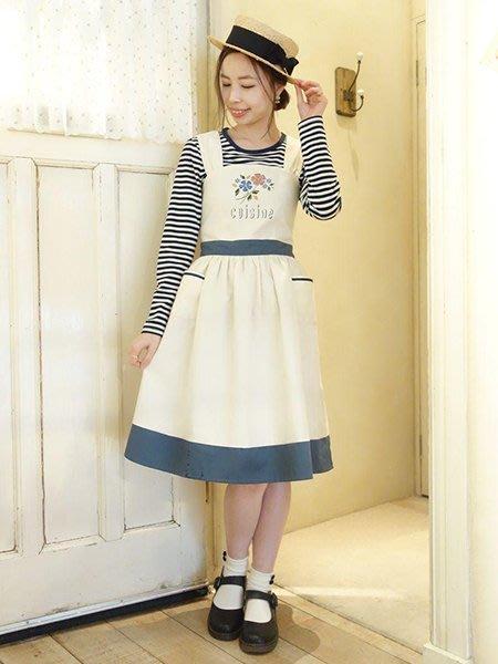 SEYES 日本空運六折代購 - Fi.n.t模板花刺繡圍裙式背心裙