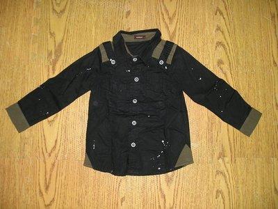 男童黑色 襯衫