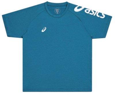 棒球世界asics亞瑟士短袖T恤 K12047-49 特價藍綠色