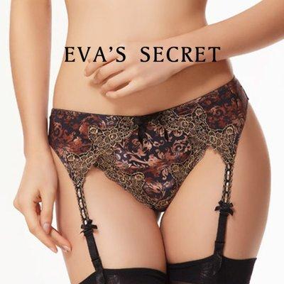 夏娃的祕密|夏娃嚴選|高質料花紋吊襪帶|高品質優雅配件