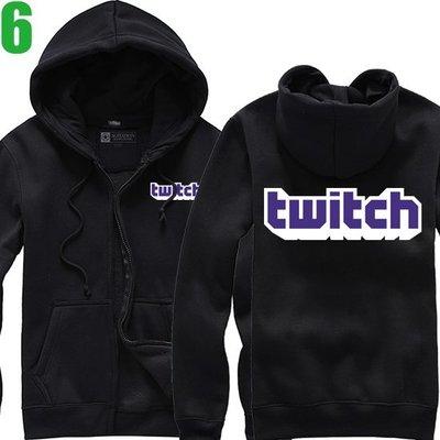 【Twitch】連帽厚絨長袖創意設計主題外套(共5種顏色可供選購) 新款上市購買多件多優惠!【賣場二】