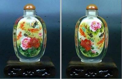 富貴有余中國特色手工藝品外事商務禮品送長輩水晶內畫鼻煙壺 壺說116