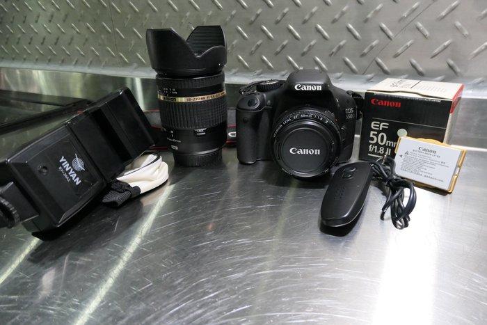 [公司貨/9成新]Canon Eos 550D+EF 50mm f1.8+TAMRON 18-270 f3.5/送閃燈
