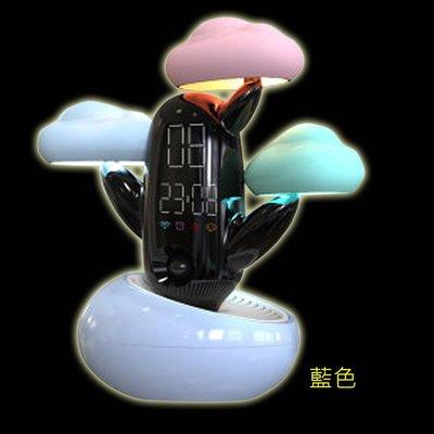 5Cgo【智能】智能黑科技新奇創意多功能雲朵真人語音天氣預報時光燈趣味鬧鐘夜燈輕觸感知實用送禮自用皆宜三色可選 含稅