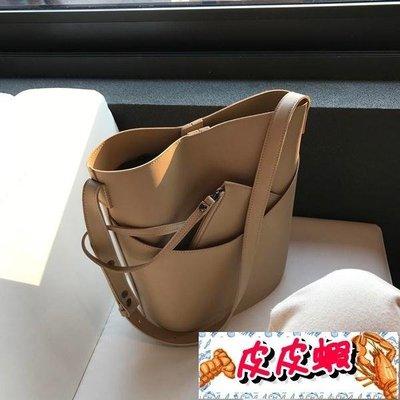 水桶包2019春夏新款韓版簡約休閒側背...