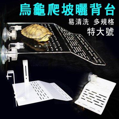 特大號-烏龜曬背壓克力曬背台巴西龜浮島爬台龜爬坡水陸缸水族箱造景
