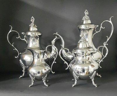 442高檔英國鍍銀壺組 Vintage Silverplate Ornate teapots (皇家貴族精品)