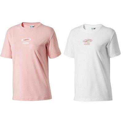 Puma 刺繡LOGO 女款休閒運動上衣 2色 粉紅色84465316/白色84465315