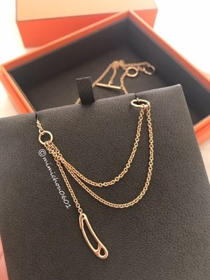 *mimi's* 全新真品 Hermes Chaine d'Ancre Mini Punk 18K金項鍊