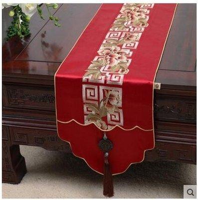 藝必旭中式玉佩田園桌旗桌布茶几布床旗櫃旗桌墊長餐桌布布藝定制