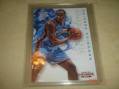 美國職籃 NBA Thunder Kendrick Perkins  2012-2013 Panini #93 球員卡