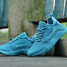 D-BOX NIKE AIR HUARACHE ULTRA BREATHE 湖藍 透氣 武士 慢跑鞋 運動鞋 女鞋