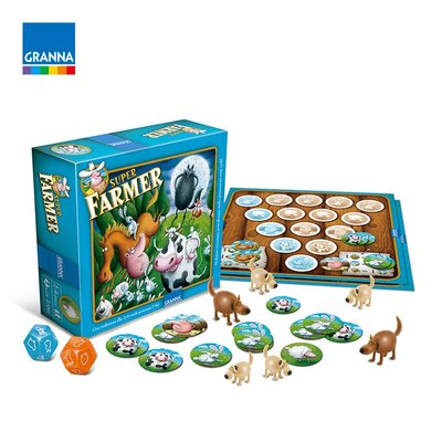 聚會 超級農場主桌游兒童10歲5歲益智游戲親子財商桌面玩具幼兒悠悠罐罐