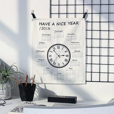 日曆掛布裝飾 北歐風牆上掛畫創意玄關客餐廳臥室房間牆壁_☆優購好SoGood ☆