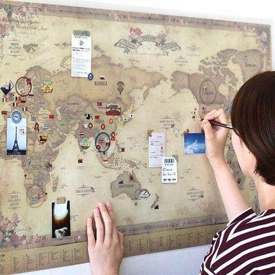 Ξ ATTIC Ξ 韓國indigo~Travel World Map v.3 世界地圖(附貼紙,塗鴉板)
