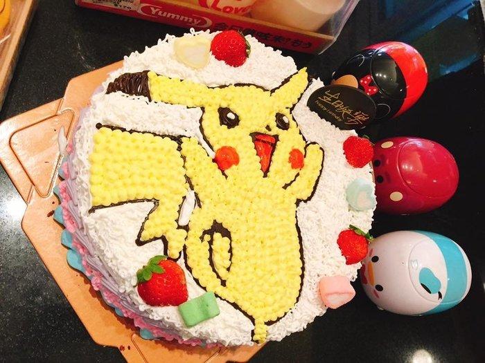 ❤ 歡迎自取 ❤ 雪屋麵包坊 ❥ 神奇寶貝款式 ❥ 皮卡丘蛋糕 ❥ 8 吋生日蛋糕 ❥ 送彩色蠟燭
