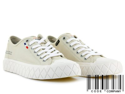 =CodE= PALLADIUM PALLA ACE CVS 法國旗帆布鞋(淺灰)77014-217 餅乾鞋 鬆餅鞋 男