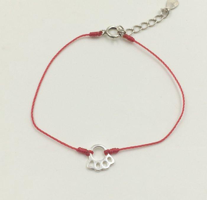 [Le Bonheur Line] 幸福線 手工 / 純銀925 熊掌 / 紅繩 手鍊  韓國 迷你 精緻 小熊 可愛