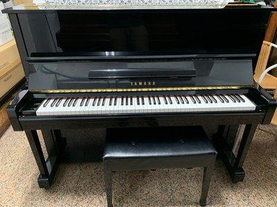 [高雄中古鋼琴專賣]山葉Yamaha黑色U1台灣製造9成新