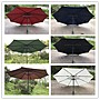 9尺 升級版 手搖式鐵桿傘 庭院傘 花園遮陽傘 草坪傘 2.7米沙灘傘 咖啡廳 太陽傘 帳篷傘 海邊陽傘 不含傘座