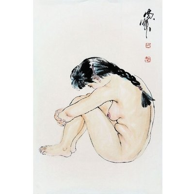 栖凤居 何家英字畫作品手繪二尺國畫人物人體藝術裸體仕女贈作者專輯畫冊 J2001