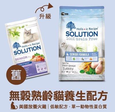 *COCO*耐吉斯超級無穀-熟齡貓養生配方1.5kg(美國放養火雞肉)七歲以上老貓低敏飼料/單一蛋白