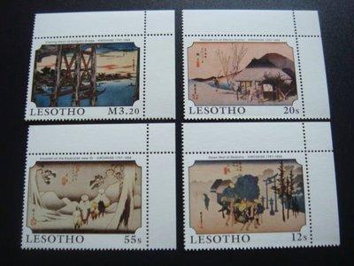 【大三元】非洲郵票-賴索托郵票-JA25賴索托-新票四全1套-原膠