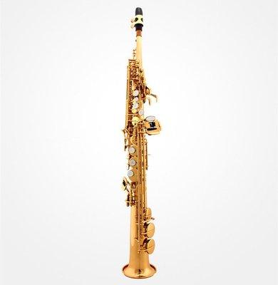 【民族乐器】直管高音薩克斯降B調薩克斯樂器薩克斯風高音直管薩克斯 H4556D
