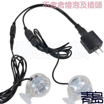 十月缺Y。青島水族。F-110水中情境燈 LED 水中燈 水中投射燈(小夜燈 水陸兩用 1W USB)==一對二電源