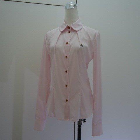 ☆注目の義大利製Vivienne Westwood 新款粉紅色星球logo長袖襯衫☆