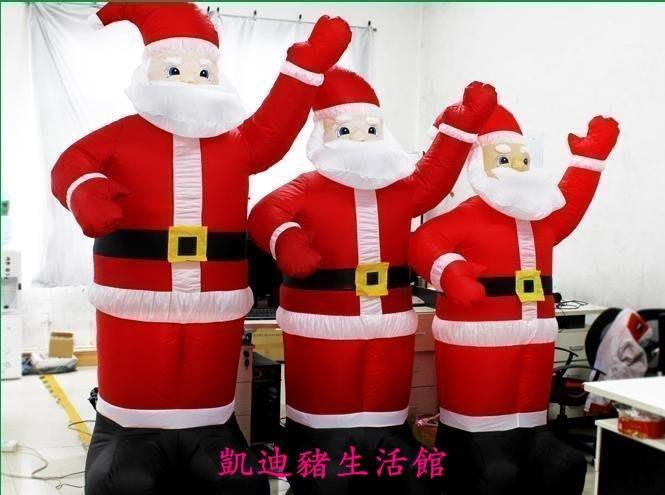 【凱迪豬生活館】聖誕節充氣聖誕老人 大小號1.8米-3.5米場景布置聖誕裝飾聖誕老人 1.8米2.1米2.4米3.5米 聖誕老人迎賓KTZ-201028