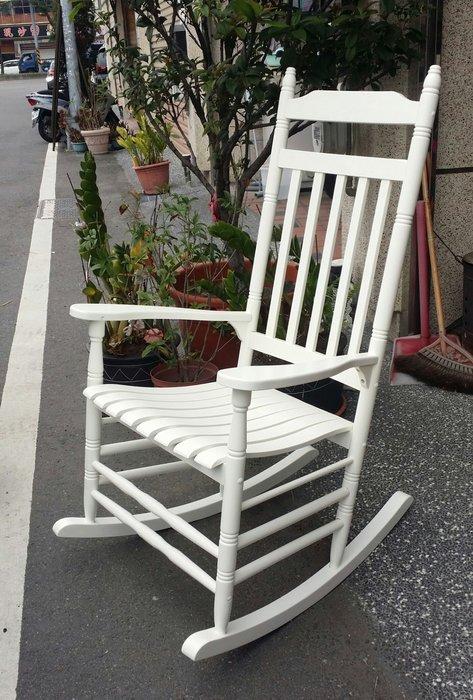美生活館 全新鄉村白色全木搖椅 休閒椅 躺椅 民宿餐廳 拍照婚紗怖置攝影居家自用臥房客廳主人椅