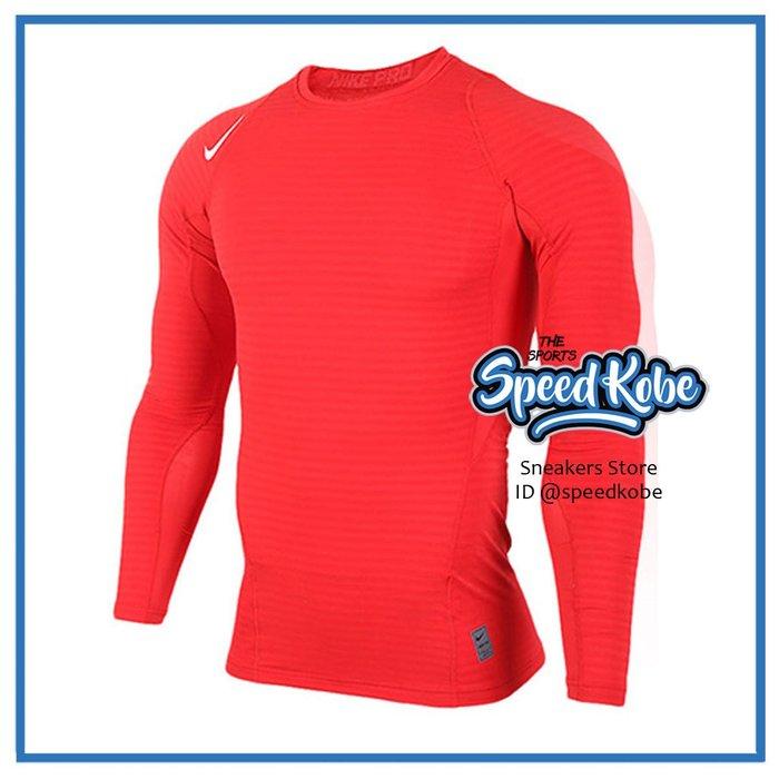 ☆SP☆NIKE AS WARM COMP LS CREW 緊身長袖 紅 厚 上衣 排汗 725030-658