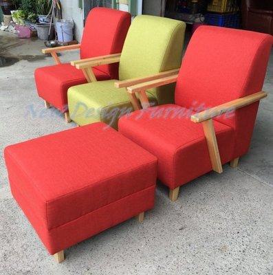 【New Design Furniture】台南在地家具-簡約日式木框手小款單人沙發(推薦給出租套房.小房間)
