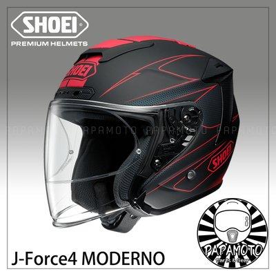 【趴趴騎士】SHOEI J-Force4 MODERNO TC-1 紅黑 (內附PINLOCK防霧片 JForce