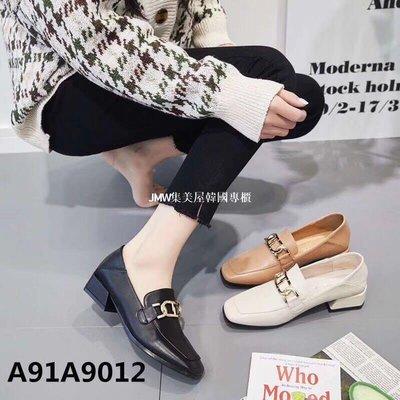 JMW集美屋韓國專櫃2019春季新款小方頭方跟低跟女單鞋懶人鞋官方網正品9012