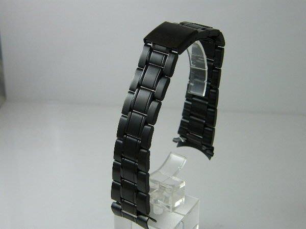 錶帶屋 14mm 18mm 20mm 有效替代各式相容原廠錶帶的彎頭pvd黑色不銹鋼 現貨商品