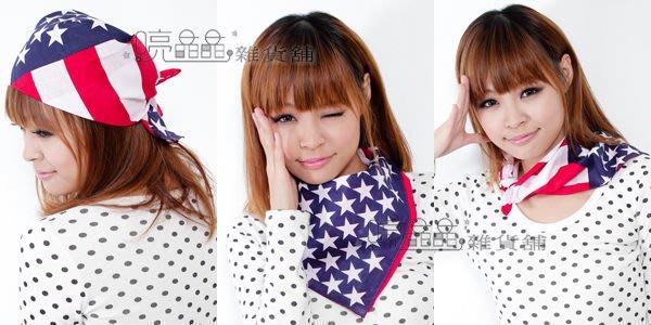 ☆ 喨晶晶雜貨舖☆ 方巾_ 國旗造型系列 頭巾 領巾