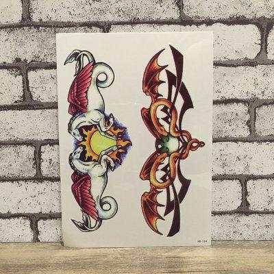 【萌古屋】白馬圖騰手臂大圖 - 男女防水紋身貼紙原宿刺青貼紙 HB-164