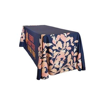 居家家飾設計 熱昇華全彩桌巾-使用防皺超厚彈性布-切圓角桌巾-尺寸200*320cm-適用各種IBM桌-接布50cm