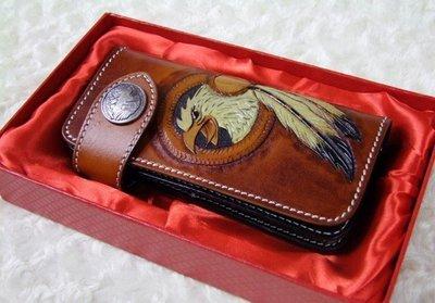 NYCT 韓國高品質限定原創 歐美熱賣頂級百搭時尚復古民族風皮雕錢包進口植鞣皮錢夾頭層牛皮手拿包真皮財布