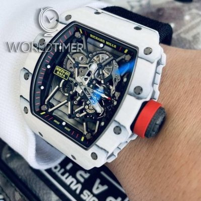 "Richard Mille [2018 USED] RM 35-01 TPT WHITE CARBON LAST EDITION ""Rafael Nadal"""